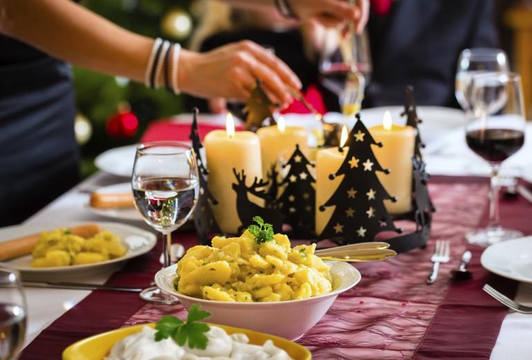 Christmas Dinner with dumplings