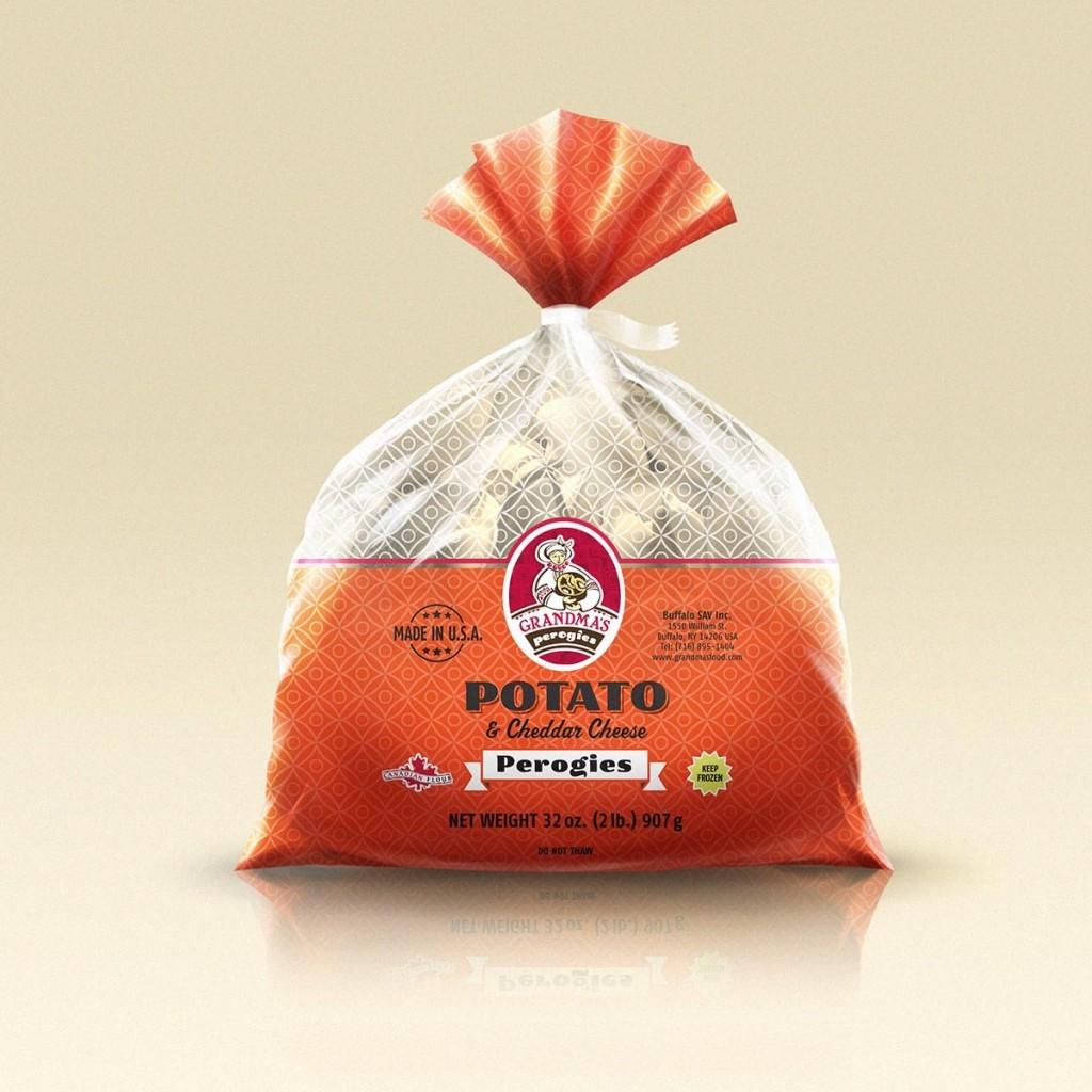Grandmas Perogies Canada Potato and Cheddar Cheese Perogies 2Lbs