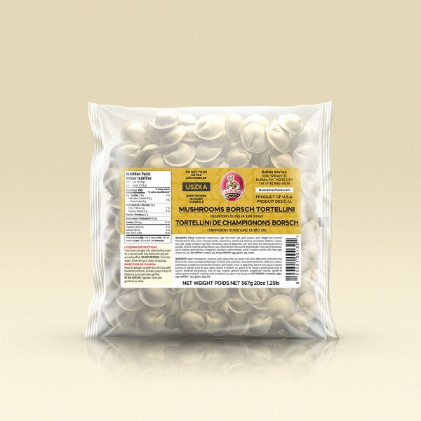 GrandmasPerogies Mushroom Borsch Tortellini 1Lb