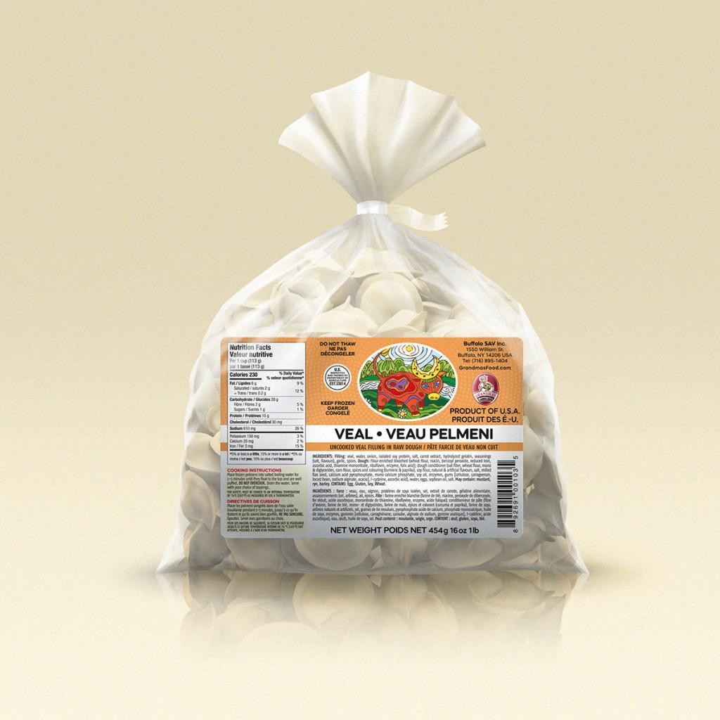 GrandmasPerogies Veal Dumplings (Pelmeni) 1Lb