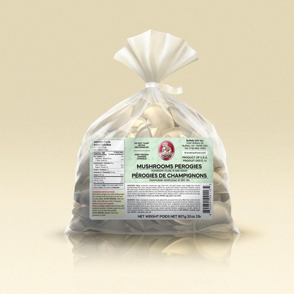Grandmas Perogies Labels 2lb Mushrooms Perogies