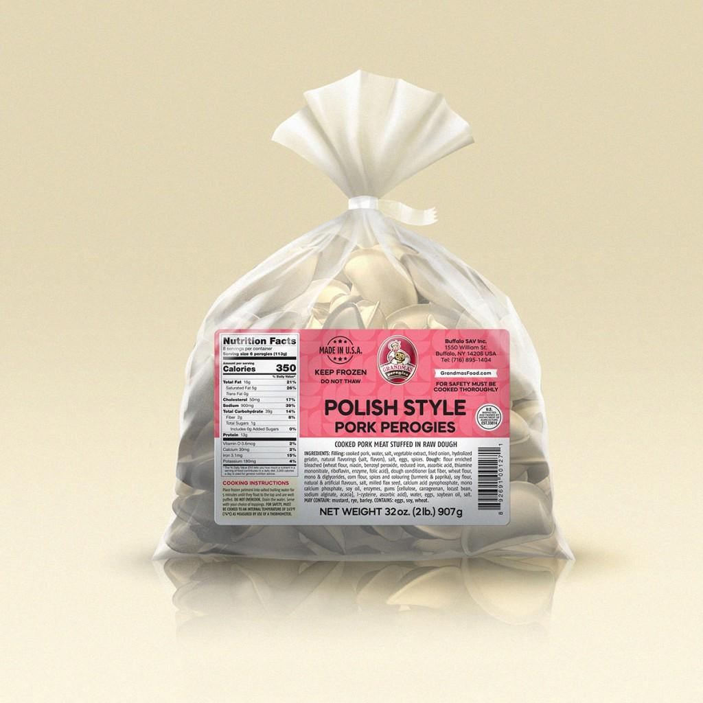 Grandmas Perogies Labels 2lb Polish Style Meat Perogies