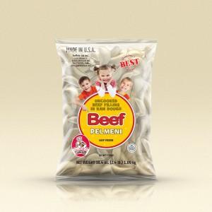 GrandmasPerogies Beef Dumplings (Pelmeni) 2.4Lbs