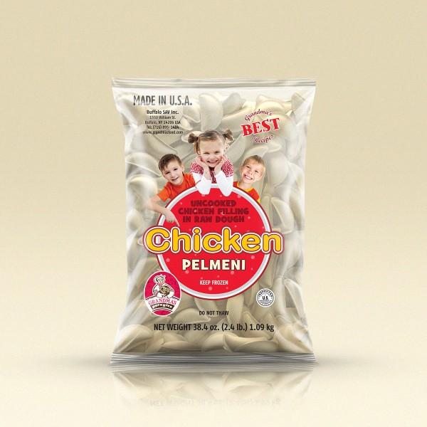 GrandmasPerogies Chicken Dumplings (Pelmeni) 2.4Lbs