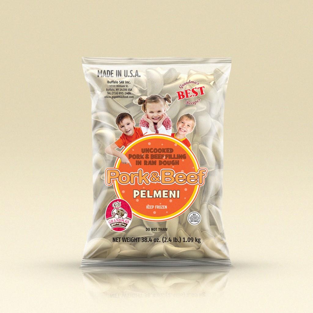 GrandmasPerogies Pork and Beef Dumplings (Pelmeni) 2.4Lbs