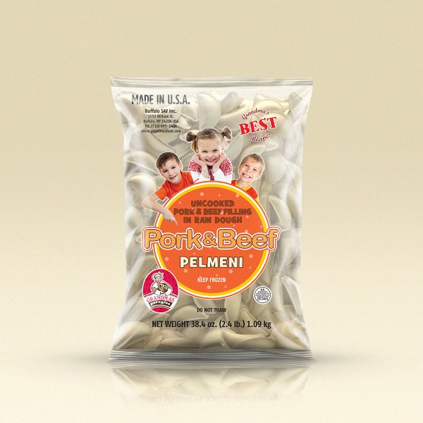 GrandmasPerogies Pork and Beef Dumplings (Pelmeni) 2.4Lbs