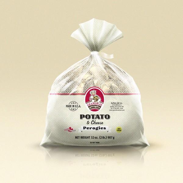 Grandmas Perogies Labels 2lb Potato Cheese Perogies