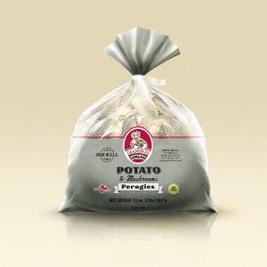 Grandmas Perogies Labels 2lb Potato Mushroom Perogies