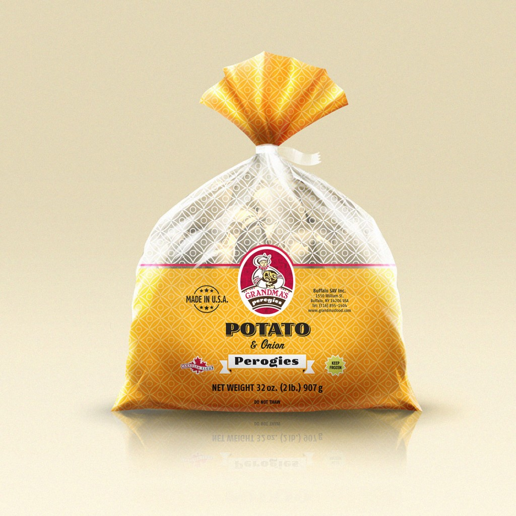 Grandmas Perogies Canada Potato and Onion Perogies 2Lbs