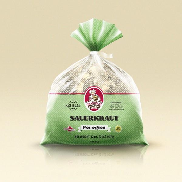 Grandmas Perogies Labels 2lb Sauerkraut Perogies