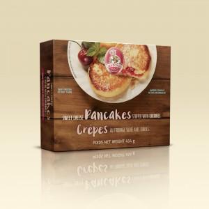 Grandmas Food Canada Sweet Cheese Pancakes with Cherry